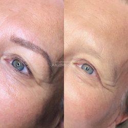 genezen wenkbrauwen en eyeliner pmu